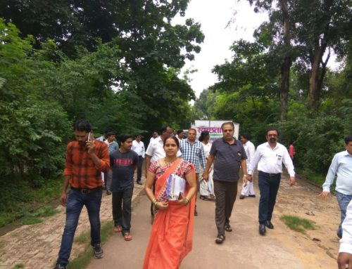 स्वच्छता विभाग डेंगू महामारी हेतु रैली